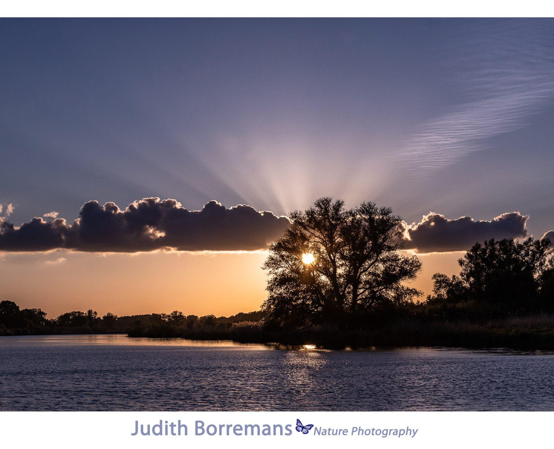 Zonsondergang In De Brabantse Biesbosch Met JBNsloep
