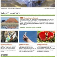 15-03-2015 Blauwe Heikikker Op De Nieuwsbrief Van Vroege Vogels